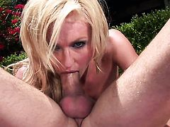 Victoria White gets her many times used mouth drilled again by horny man
