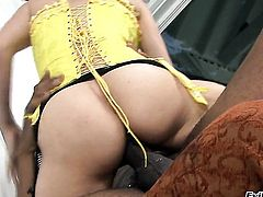 Cytherea opens her mouth invitingly in blowjob action with Sean Michaels
