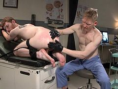 If you are into man on man gay activities, check out the next kinky scenes. While slutty Seamus is bounded strongly, a dominant partner uses a dildo, to fill the helpless man's ass hole. Click to see that butt fingered deeply!
