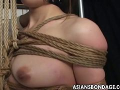 She is a cool Asian bondage loving freak who agrees to be gagged and treated to a very nasty and rough bdsm session but she trusts her master fully.