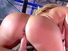 Johnny Sins gets another hottie to fuck hard. He oiled Miss Summer Brielles huge tits up as well as her tight black pussy and hes ready to get in there.