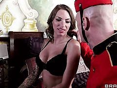 Johnny Sins has a nice time banging Adorably sexy hottie Juelz Ventura with juicy hooters