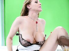 Julia Ann takes a big black dick