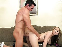 Madison Chandler gets her many times used mouth filled with Peter Norths stiff man meat again