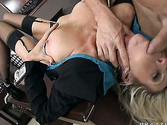 Johnny Sins loves always wet warm love hole of Emma Starr with gigantic jugs