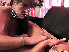 Mahina Zaltana with massive hooters cant stop licking Anita Cannibals wet beaver in lesbian action