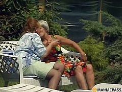 Two mature aunt naughty outdoors
