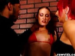 Haley Young And Raven Black Nasty Whores Fuck In The alley