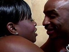West Coast Productions Black babe gets a creampie
