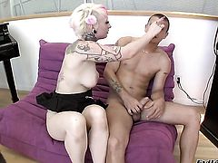 Mr. Pete stretches extremely sexy Misti Dawns ass with his rock solid fuck stick to the limit