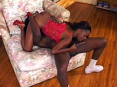 Byron loves nothing more than a round butt of a sexy black woman and Promise, certainly has that. She gets all excited to see Byron's really big dick, which she knows would enter her, if she is able to suck it long enough. Byron licks her yummy pussy and makes sure it's ready for some fucking.