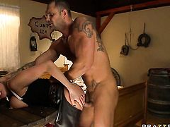 Nacho Vidal is horny and cant wait any longer to slam Alanah Rae