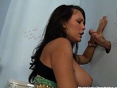 Busty Slut Sucks Stranger's Cock