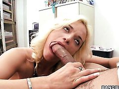 Cameron Cain had her nice face covered in cock juice many times but wants some more