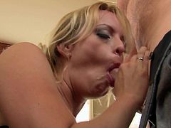 Stormy Daniels is a smoking hot MILF with huge tits. Tattooed blonde gets her wet cunt fucked silly after oral fun. Big breasted Stormy Daniels loves hardcore sex so fucking much!