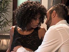 Interracial sex with skinny ebony woman Misty Stone