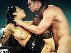Asa Akira enjoys the taste of a cock in her mouth. In this scene she jumps on the guy as soon as she meets him and gives a blow job. She then puts it in her pussy.