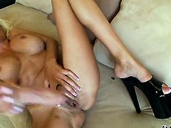 Puma Swede has a great time masturbating her fuck hole