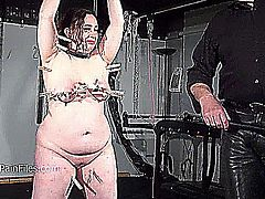 Crying fat slaveslut Nimues extreme whipping and stern discipline of bbw sub