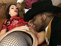 Sean Michaels uses his thick man meat to bring blowjob addict Sarah Shevon to the edge of nirvana