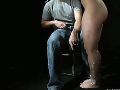 Blonde Kathia Nobili is good on her way to make hard cocked guy bust a nut in hardcore action