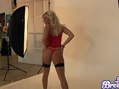Bree Olson is at her sexiest in a smoking hot red lingerie set