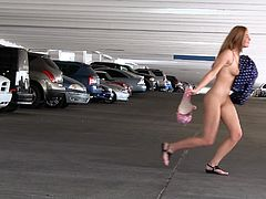 Flashing in a public parking place