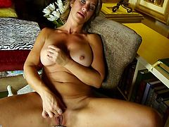 Are you a big fan of mature bitches? Skyler is a dirty slut with short blonde hair and beautiful tits, which she loves to squeeze in front of the camera, while alternating her attention to her pussy, too. Click to watch the horny lady fingering and rubbing her cunt. You can read satisfaction on her face...