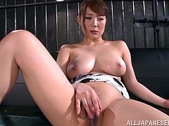 With eyes closed, slutty Yuuka is eager to taste every cock she can get. Right now, the lovely lady with gorgeous big tits gladly enjoys sucking two hard dicks. Click to watch her playing with her naughty hairy pussy in front of the camera. Getting her cunt covered in cum makes her so excited!