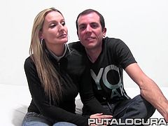 This couple decided to celebrate the last day of love shooting a porn scene for Putalocura. Indeed they put on a good show and this hot milf is ready to take on a train of cocks up her ass. A2M seems to be her favorite as she sucks her BF dry to the bone!