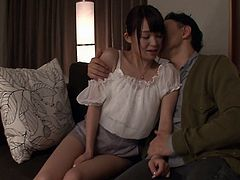 Enchanting Japanese cowgirl gets her hairy pussy spooked after a wild party