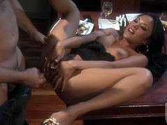 Kaylani Lei is a smoking hot asian woman who loves anal sex. She strokes her wet twat like crazy with her playful fingers as hot dude bangs her tight exotic asshole. Watch Kaylani Lei get assfucked.