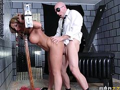 Richelle Ryan knows how to please a man, but Johnny Sins know how to bust a woman up. Hes going to tie Richelle up and then bang her without mercy