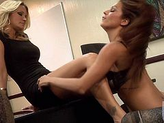Jessica Drake and Kirsten Price are horny milf lesbians eating pussy. These bitches are going to demonstrate their many years of experience in this short video where they will both cum multiple times