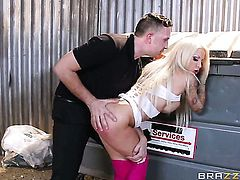 Helly Mae and Keiran in hot blonde porn