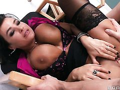 Lisa Ann warms Johnny Sins up and takes his snake