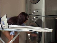 Irresistibly sexy leggy housewife Jewels Jade in platform shoes seduces a man in the kitchen. Plumber drills her real tight ass hole like theres no tomorrow and she loves it so much.