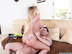 Cute sweetie Nicole Aniston with big knockers gets the fuck of her dreams with hot bang buddy John Strong