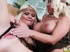 Blonde Molly Cavalli with round ass and shaved beaver has fire in her eyes as she fucks herself with sex toy