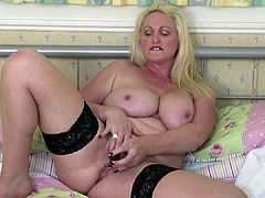 Mature busty mother with small hungry vagina