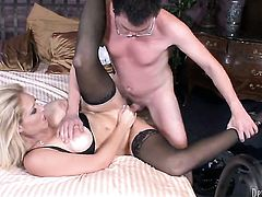 Dane Cross cant wait any longer to shove his meat pole in perfect bodied Charlee Chases mouth