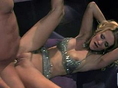 Beautifully dressed Jessica Drake gets her hairless tight pussy pounded balls deep with her lovely slim legs wide open. This gorgeous woman loves it hardcore. Watch Jessica Drake get slam fucked!