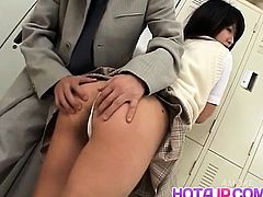 Rin has cunt rubbed in white panty and fucked by sucked