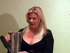 Ginger Lynn gets interviewed