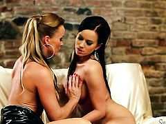 Cindy Dollar is hungry for lesbian sex and gets used by Silvia Saint