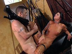 Black haired bimbo that goes by the name of India Summer is all tied up, along with her fishnet stockings and shes about to get that D real hardcore. Just the way she likes it