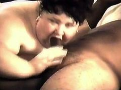 BBW Granny Uses Her Mouth Like A Cunt