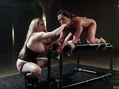 francesca gets used by a fierce mistress