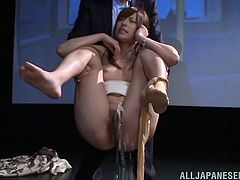 Porn theater pissing and sex with a naughty Japanese chick