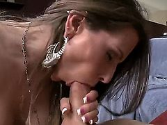 Rachel Roxxx is a sexy brunette slut that will try out anything. She will get mouthful of cock and shes going to ride that cock till his balls explode and burst cum out
